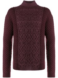 Missoni Long Sleeve Knitted Jumper Red