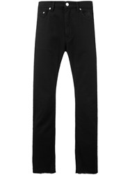 Msgm Frayed Bootcut Jeans Men Cotton 46 Black