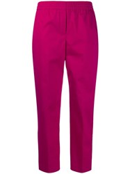Theory Slim Cropped Trousers Pink