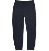 A.P.C. Tapered Cotton Jersey Sweatpants Blue