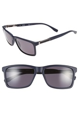 Boss '0704Ps' 57Mm Polarized Sunglasses Blue Ruthenium Smoke