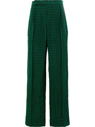 Haider Ackermann Straight Check Trousers Green