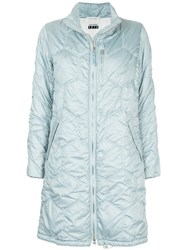 Comme Des Garcons Vintage Puffy Quilted Coat Blue