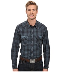 Rock And Roll Cowboy Long Sleeve Snap B2s8409 Turquoise Men's Clothing Blue