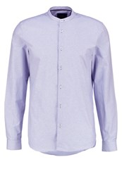 Burton Menswear London Grandad Shirt Blue Dark Blue