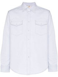 Eytys Falcon Twill Cotton Shirt White