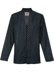 Naked And Famous Kimono Shirt Blue