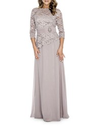 Decode 1.8 Studded Lace Gown Mauve