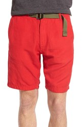 Men's Relwen 'Highland' Linen And Cotton Shorts Bright Red