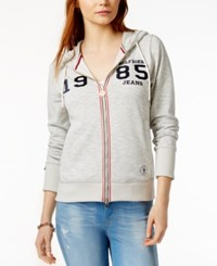 Tommy Hilfiger Logo Hoodie Only At Macy's Heather Grey Combo