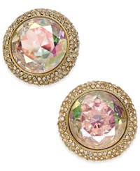 Kate Spade New York Gold Tone Iridescent Crystal Stud Earrings