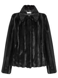 John Lewis Leona Short Faux Fur Coat Black
