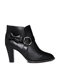 F Troupe Black Leather Heeled Boots