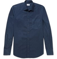 Aspesi Slim Fit Cotton Poplin Shirt Navy