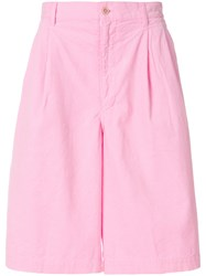 Comme Des Garcons Shirt Bermuda Shorts Pink And Purple