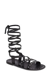 Charles By Charles David Women's Steeler Ankle Wrap Sandal Black Leather
