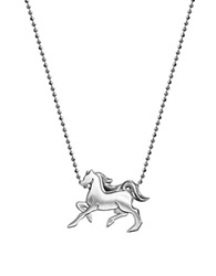 Alex Woo Little Signs Horse Sterling Silver Pendant Necklace