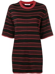 Givenchy Striped Knit Top Red