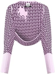 Opening Ceremony Shrug Cardigan Merino Pink Purple