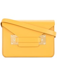 Sophie Hulme Foldover Top Satchel Bag Yellow And Orange