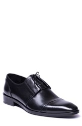 Jared Lang Danny Cap Toe Derby Black Leather