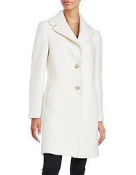 T Tahari Tessa Casual Topper Coat Winter White