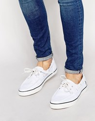 Original Penguin Canvas Boat Shoes White