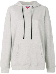 Adaptation Embroidered Oversized Hoodie Cotton Polyester Xs Grey