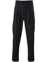 Christophe Lemaire Pleated Tapered Trousers Black