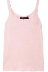 Theory Linen Blend Tank Pastel Pink