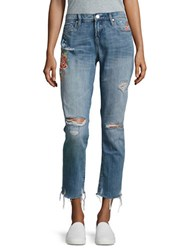 Blank Nyc Embroidered Cropped Jeans Wild Child