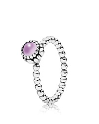 Pandora Design Pandora Ring Sterling Silver And Amethyst Birthday Blooms February Silver Amethyst