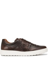 Salvatore Ferragamo Low Top Sneakers Brown