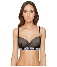 Moschino Fashion Mesh Bustier Black Women's Bra