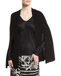 Halston Heritage Poncho Cardigan W Front Ties Size X Small Eggshell