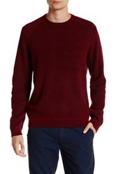 Ted Baker Rib Panelled Long Sleeve Crewneck Sweater Red