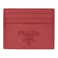 Prada Pink Saffiano Monochrome Card Holder