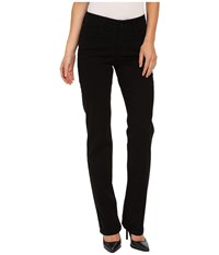 Nydj Marilyn Straight In Peached Twill Black Women's Casual Pants