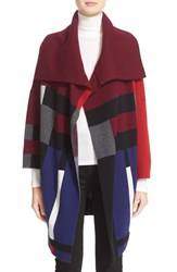 Burberry Women's Halladale Check Knit Wool And Cashmere Wrap