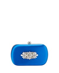 Badgley Mischka Certain Embellished Clutch Blue