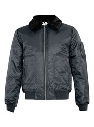 Topman Nylon Flight Jacket Navy