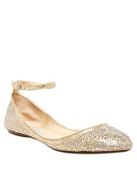 Betsey Johnson Joy Flats Champagne
