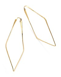 Moon And Meadow Hammered Geometric Hoop Earrings In 14K Yellow Gold 100 Exclusive