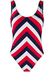 Perfect Moment Chevron One Piece Red