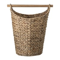 Bloomingville Woven Water Hyacinth Basket With Wooden Handle