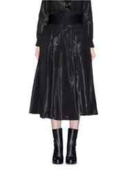 Toga Archives 'Monofila' Organdy Wrap Skirt Black