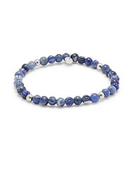 Tateossian Sodalite Stone And Sterling Silver Slip On Bracelet