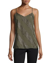 Laundry By Shelli Segal Yoryu Metallic Camisole Olive