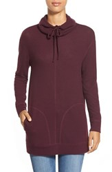 Women's Caslon Brushed Drawstring Funnel Neck Tunic