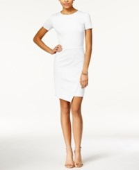 Bar Iii Envelope Hem Sheath Dress Washed White